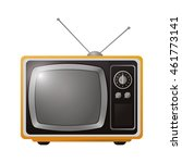 flat design retro classic tv... | Shutterstock .eps vector #461773141