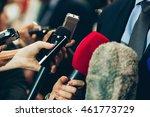 interviewing business man on... | Shutterstock . vector #461773729