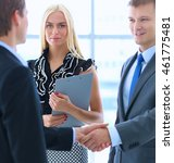 business people shaking hands... | Shutterstock . vector #461775481
