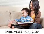 a portrait of a mother and a... | Shutterstock . vector #46177630