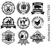 farm food vector labels set ... | Shutterstock .eps vector #461777635