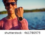 focus on hand. portrait of a... | Shutterstock . vector #461780575