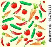 colorful ripe fresh vegetables... | Shutterstock .eps vector #461781955