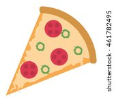 flat design pizza slice icon... | Shutterstock .eps vector #461782495