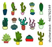 a variety of cactus. cactus in... | Shutterstock . vector #461782549