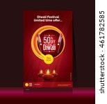 diwali festival poster template ... | Shutterstock .eps vector #461782585