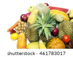 group of asian fruits  ... | Shutterstock . vector #461783017