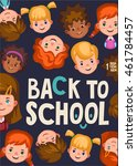 colour poster back to school.... | Shutterstock .eps vector #461784457