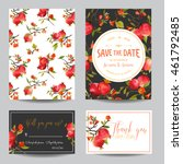 save the date card. tropical... | Shutterstock .eps vector #461792485