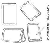 vector set of tablet pc | Shutterstock .eps vector #461793247
