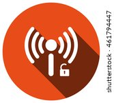 wifi icon  vector  icon flat | Shutterstock .eps vector #461794447