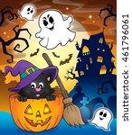 halloween cat theme image 3  ... | Shutterstock .eps vector #461796061