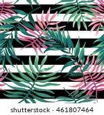 seanless pattern of tropical...   Shutterstock .eps vector #461807464