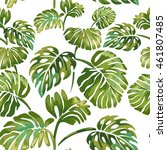 seamless pattern of  jungle... | Shutterstock .eps vector #461807485