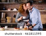 woman looking at man and...   Shutterstock . vector #461811595