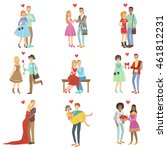 adult couples in love | Shutterstock .eps vector #461812231