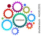 infographic with gears on the... | Shutterstock .eps vector #461812351
