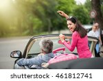 a cheerful couple going on a... | Shutterstock . vector #461812741
