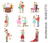 adult couples on a date | Shutterstock .eps vector #461812771