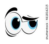 flat design side eye cartoon... | Shutterstock .eps vector #461816215