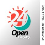 24 open everyday graphic icon.... | Shutterstock .eps vector #461817004