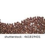 Isolated Coffee Beans Arrange...