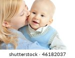 happy family  mother and baby... | Shutterstock . vector #46182037