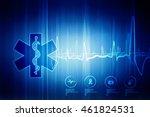 2d illustration emergency... | Shutterstock . vector #461824531