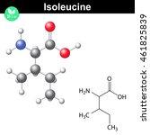 isoleucine essential amino acid ... | Shutterstock .eps vector #461825839