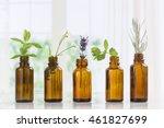 brown bottles of essential oil...
