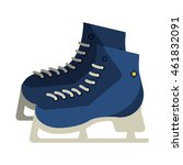 flat design ice skates icon... | Shutterstock .eps vector #461832091