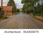 country road in rural utah  usa. | Shutterstock . vector #461833075