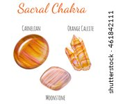 sacral chakra stones set. close ... | Shutterstock . vector #461842111