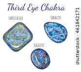 third eye  brow  chakra stones... | Shutterstock . vector #461842171