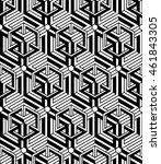 black and white illusive... | Shutterstock .eps vector #461843305