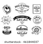 back to school typography... | Shutterstock .eps vector #461844037