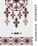 navajo style abstract geometric ... | Shutterstock .eps vector #461845819
