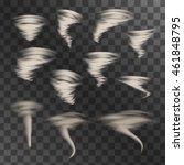 tornado on transparent... | Shutterstock .eps vector #461848795
