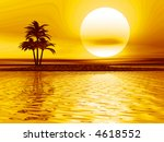 sea landscape with a palm on... | Shutterstock . vector #4618552