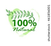 label for organic product ... | Shutterstock .eps vector #461856001