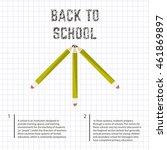 poster school educational back...   Shutterstock .eps vector #461869897