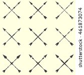 arrow clip art set in on white... | Shutterstock .eps vector #461873074