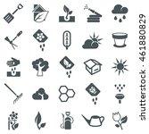 gardening icons | Shutterstock .eps vector #461880829