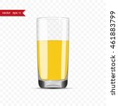 full glass of juice cup with... | Shutterstock .eps vector #461883799