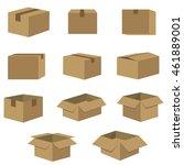packing of box set in dark... | Shutterstock .eps vector #461889001
