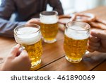 people  leisure and drinks... | Shutterstock . vector #461890069