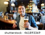people  drinks  alcohol and... | Shutterstock . vector #461893369