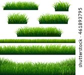 green grass borders collection  ... | Shutterstock .eps vector #461893795