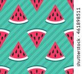 cute seamless watermelon... | Shutterstock .eps vector #461898511