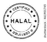 grunge black halal and... | Shutterstock .eps vector #461901745